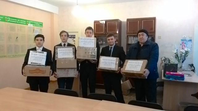 В школе проходит акция подарок солдату москва в Верхних Татышлах,Каменномостском,Хвастовичах